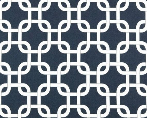 2  yards Navy Blue /  White Gotcha  -  Blue Twill Gotcha by Premier Prints - Chain link - Home Decor