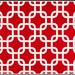 1 yard Lipstick Twill Gotcha  by Premier Prints -  Lipstick Red / White Chain link - Home Decor Weight