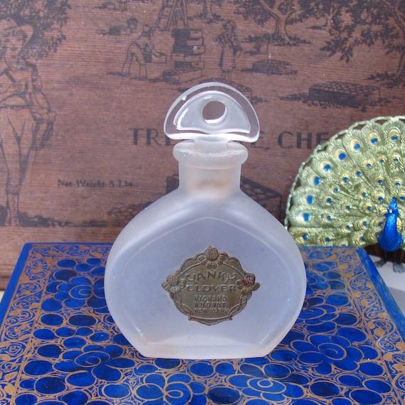 Richard Hudnut Perfume Bottle - Very RARE Vintage Yanky Clover Perfume Bottle (circa 1920)