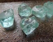 Large Aqua Blue Ice Cube Quartz Crystal Beads,Raw Hammer Faceted, Organic Shapes,  25mm-28mm, 1 Piece, Only ONE Left