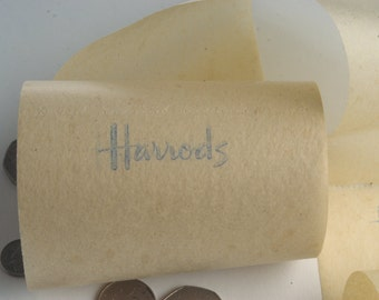 Vintage Harrods toilet paper from London's top loo