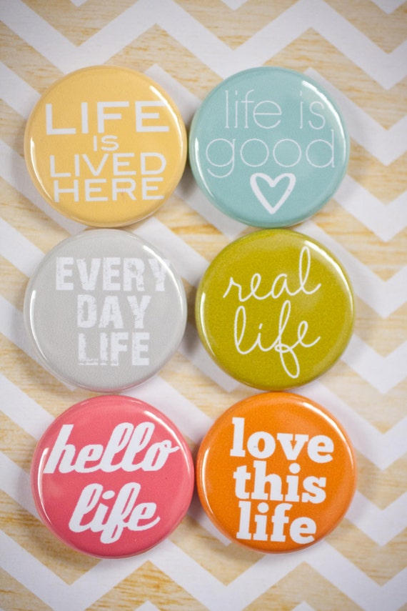 Project Life Flair Buttons - This is Life flair - A week in the Life Flair