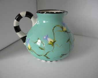 ceramic pitcher, aqua