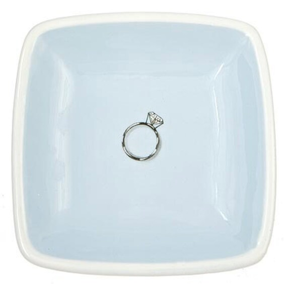 ceramic diamond ring tray