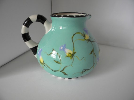 ceramic pitcher, aqua