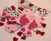 Love Birds Mail Hearts Set of 17 Foam Stickers for Scrapbooking Cardmaking