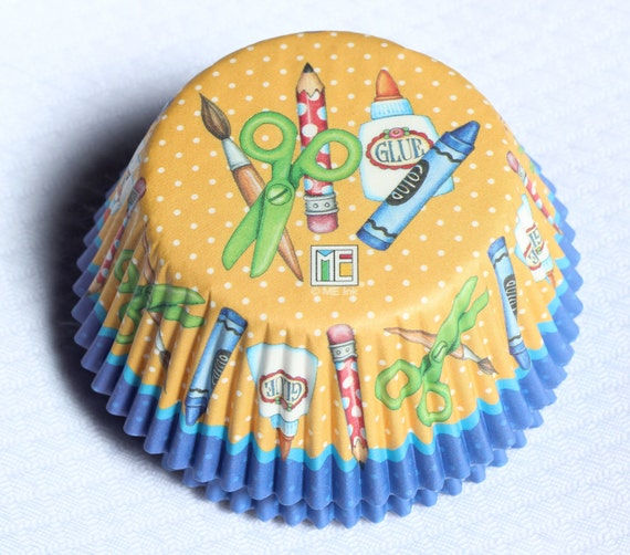 50 Sweet Baking Cupcake Liners Arts & Crafts Back to School