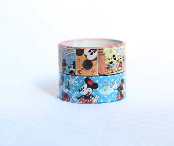 Set of 2 Disney Deco Tape Mickey Mouse Minnie Cartoon Scrapbooking Deco Tape Japanese