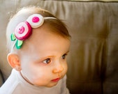 Custom children's Double flower headband