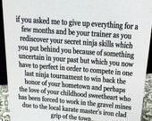 Ninja Skills 5x7 Greeting Card by seth.