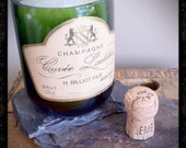 Recycle Wine Bottle Candle - French Champagne