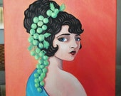 Paulene, an original painting of a vintage silent film actress