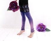 Size M- Lilac splatters- leggings