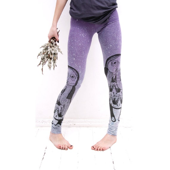Size S- parallelly synchronized lilac leggings