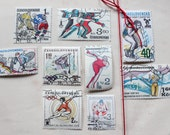 Olympics Vintage Postage Stamps from Around the World, International - Set I - Qty 9