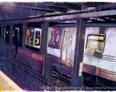 Subway Car, New York City, Signed Art Print