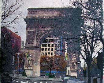 Washington Square Park, New York City, Signed Art Print