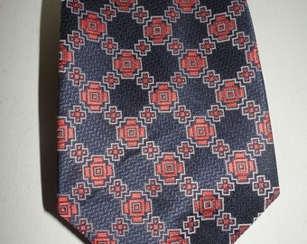 Vintage 1960s or 1970s polyester Montgomery Wards mens necktie