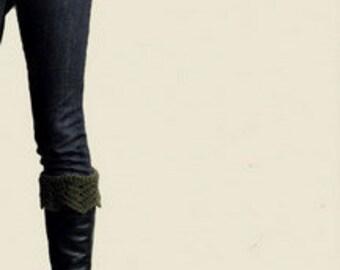 Crochet pattern Boot socks cuff, leg warmers short, rain boot, ripples boot socks, Instant Download
