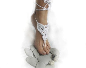 DIY tutorial - PDF crochet pattern - Barefoot sandals -spring summer wedding shoes slippers lace beach yoga dance - Instant Download