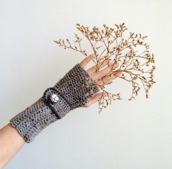PDF crochet PATTERN, Fingerless mittens, crochet  gloves, woman armwarmers,  DIY tutorial