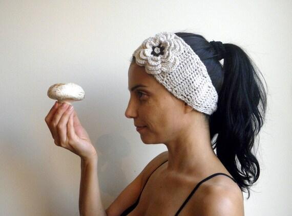 PDF crochet pattern, woman headband, woman earwarmer, layred crochet flower, bridal headband, women hair accessory, DIY tutorial