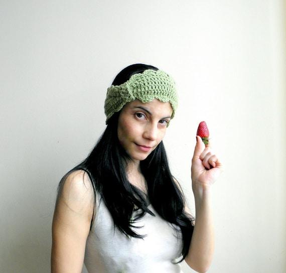 PDF crochet pattern - headband / earwarmer, retro vintage bow - DIY tutorial - Quick and easy gift