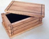 Watch Box, Mantel Box, Game Box, Wood Oak Box, Storage Box, Keepsake Box