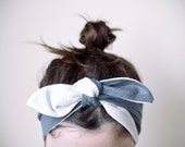 RESERVED for Celina McLeod (mistergh0st) indian headband, blue & white, reversible