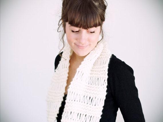 RESERVED TO: Éloïse Sarrazin Renaud,  ajustement de prix pour foulard laine + acrylique