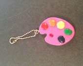 Kawaii Polymer Clay Charms - FREE SHIPPING-Painter's Palette Pink Charm
