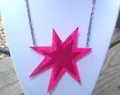 Polymer Clay Necklace - Synergy Jem and the Holograms Star