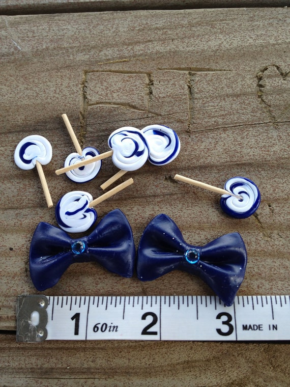 Bows and Lolli Lolli Lollipops (blue and white)