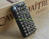 Silver Spiked and studded case Metal Bronze Studs  fit Iphone 4, Iphone 4s, iphone 4g, Iphone 4gs