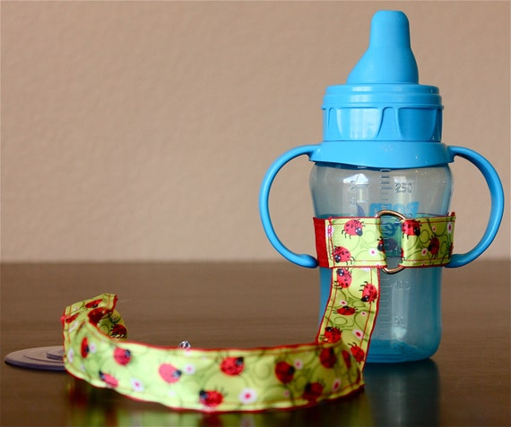 Sippy Cup Leash | Sippy Strap | Sippy Cup Strap Suction Cup | Bottle Tether | Sippy Cup Strap | Suction Sippy Strap | Ladybugs