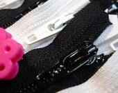 YKK Zippers - 6 Inch - BLACK (5) & WHITE- (5)