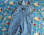 80s Osh Kosh Baby B'Gosh Lite Wash Denim Overalls, Size 3 to 6 months