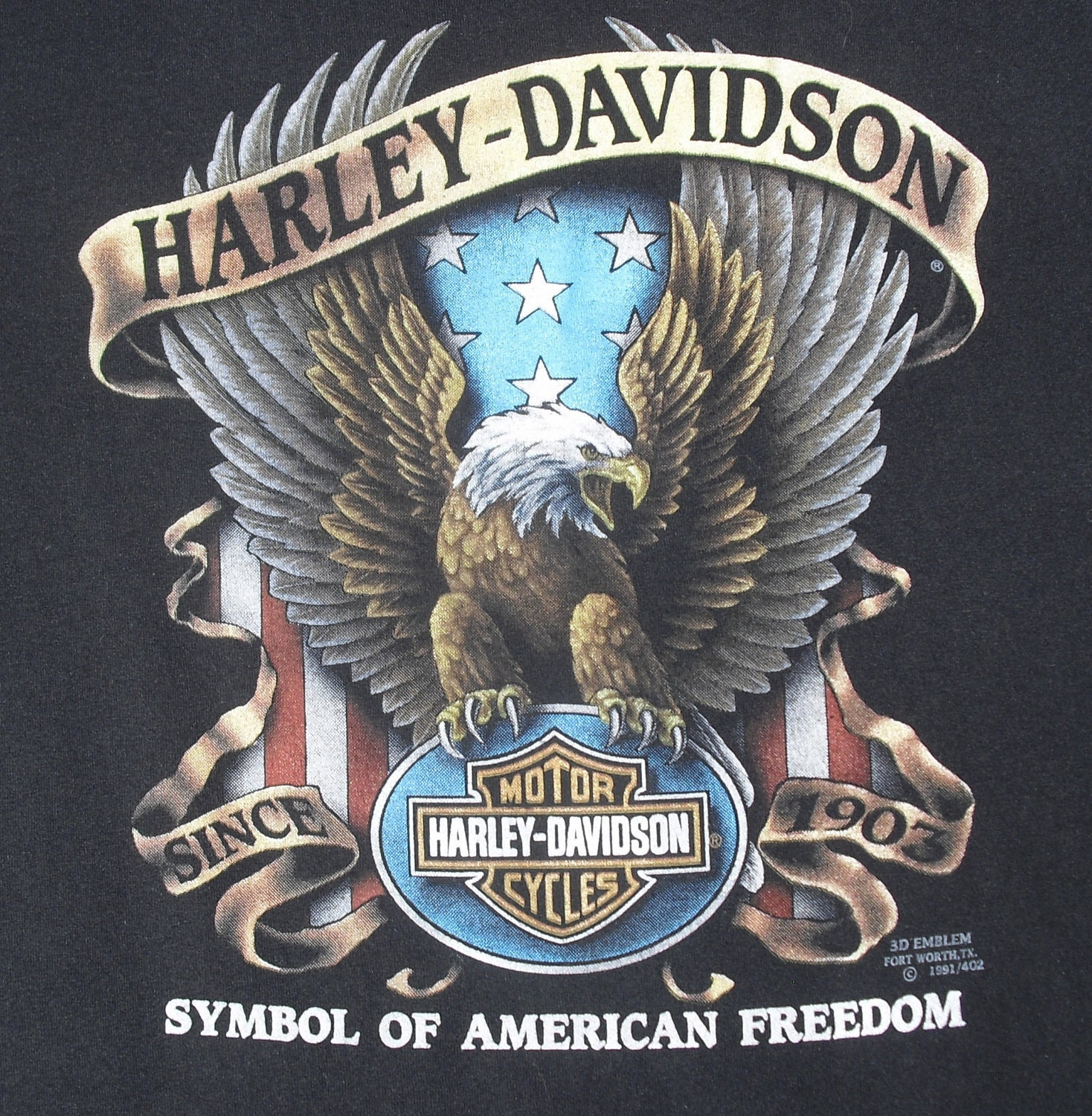 Harley Davidson T Shirt With Eagle
