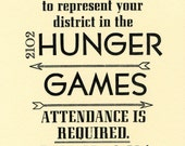 Hunger Games Party Invitations (10 / Letterpress printed)