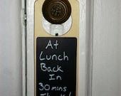 Chalkboard Doorknob Hanger pair
