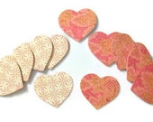 3D Double Sided Cardstock Hearts set of 88 - Die Cut - Embellishments - Scrapbooking