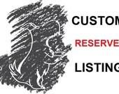 Reserved Listing for kl1218