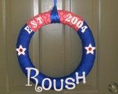 Custom Patriotic Wreath - Large