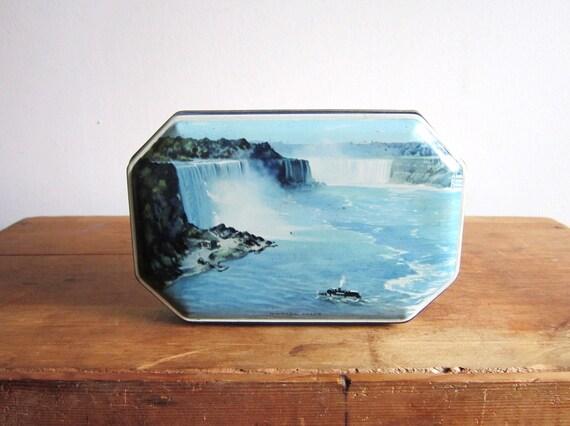 Vintage Niagara Falls Riley's Toffee Tin