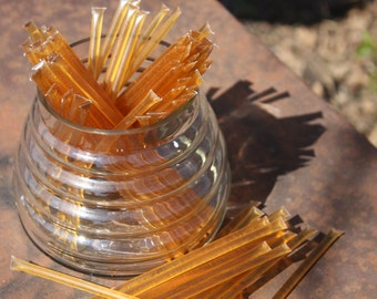Honey Sticks Pure Wildflower Honey - 50 Honey Filled Sticks. Great for Honey Wedding Favor