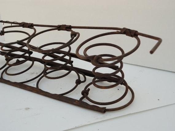 Vintage Bedsprings Chair Springs Rustic Home Decor Primitive Candle Holder by metrocottage