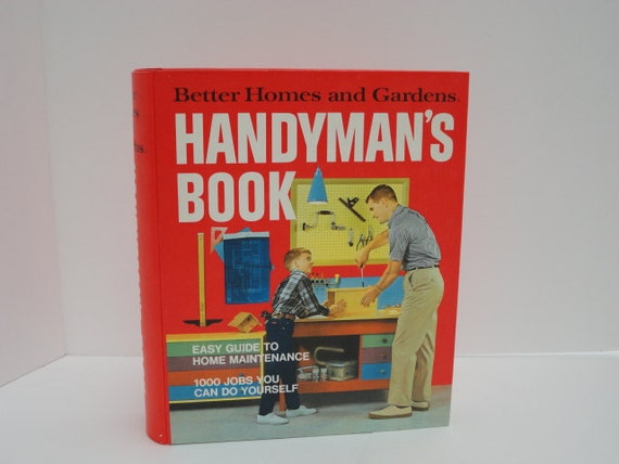 Vintage Handyman Book 1970 Better Homes and Gardens Home Repair Do-it-Yourself Manual by metrocottage