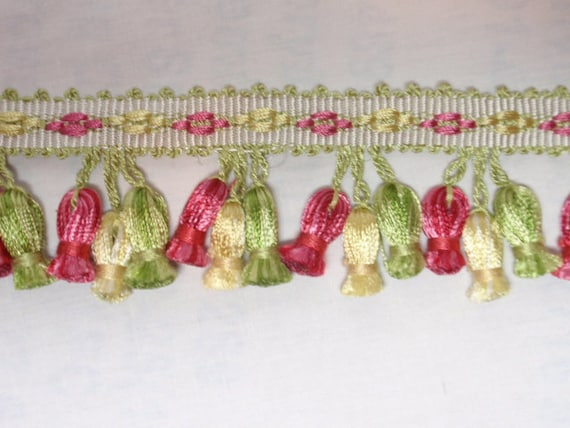 Fringe Pink Green SPRING Trim Tassel Pillows Wholesale Closeout