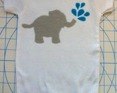 Appliqued Elephant Gerber Onesie