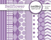 Digital Scrapbook Paper Pack - Bellflower - Pantone Spring Collection
